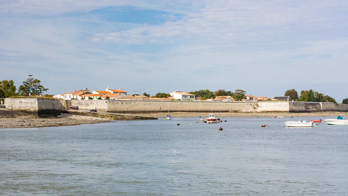 Vue sur le village de l'Ile d'Aix