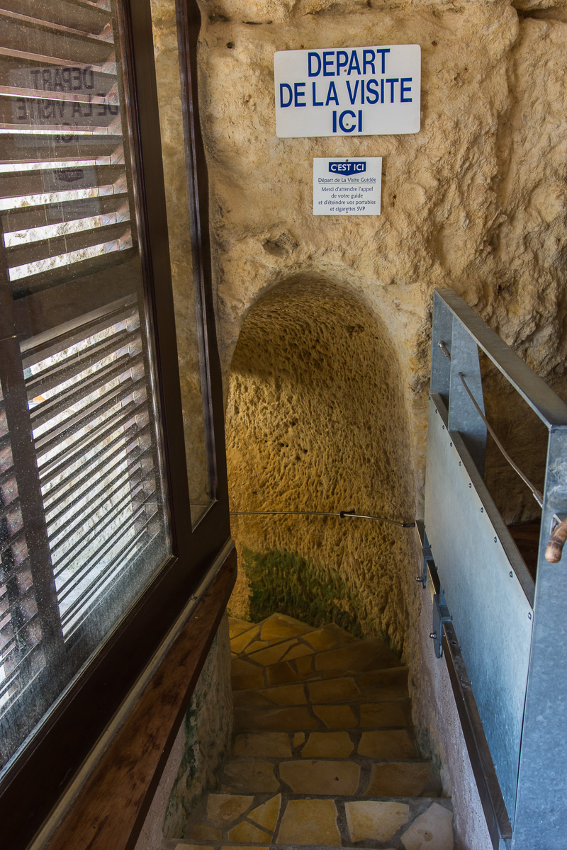 Départ de la visite des grottes du Régulus