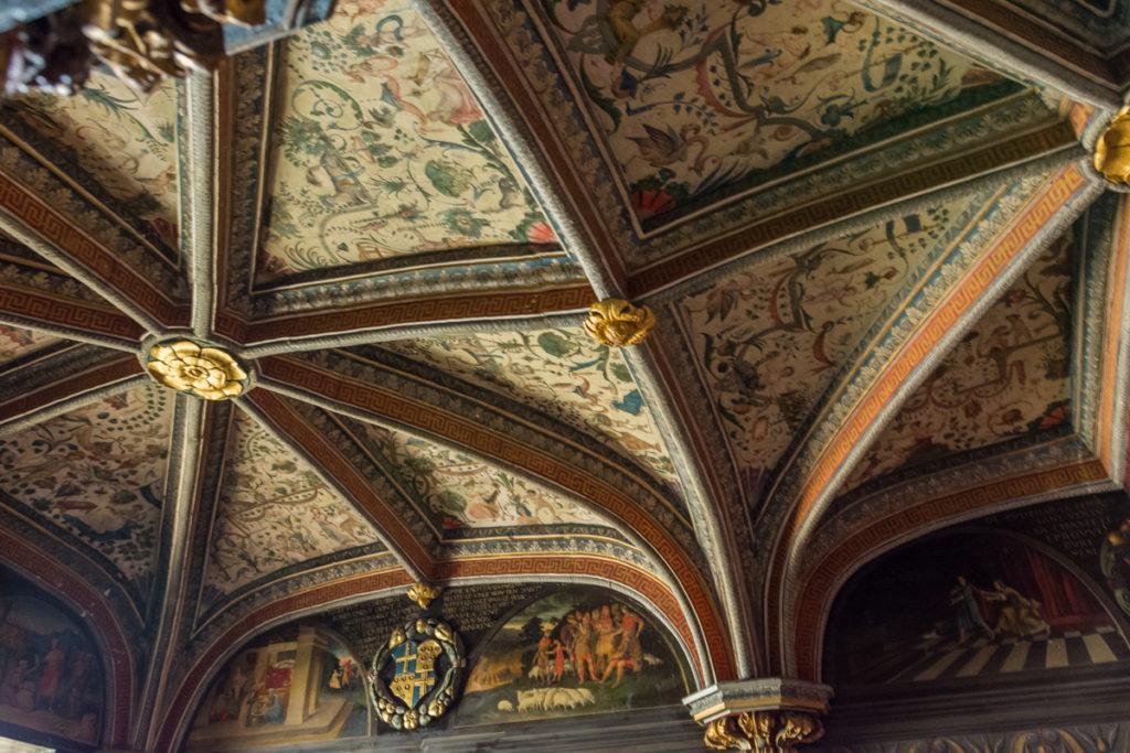 Plafond du studiolo du chateau du Lude