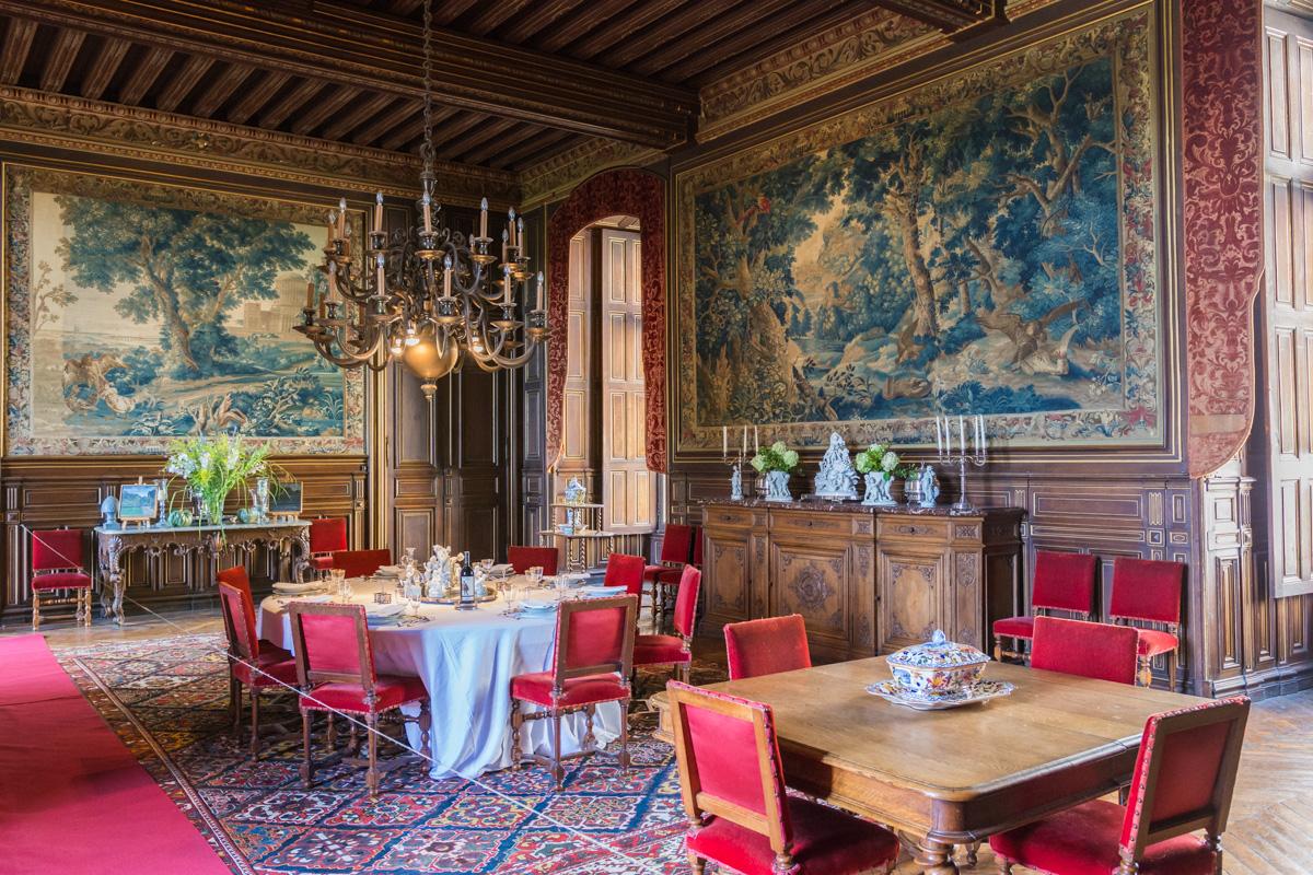 Salle à manger du chateau du Lude