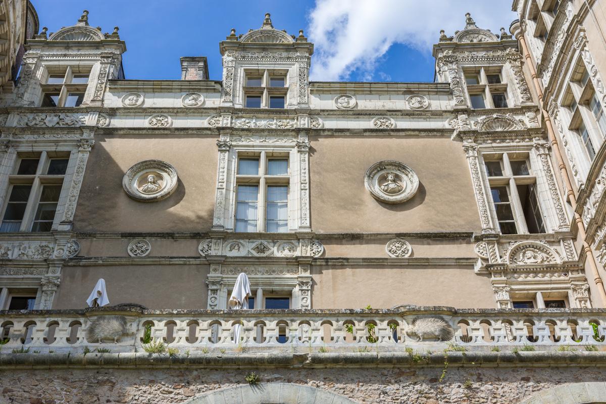 façades du chateau du Lude