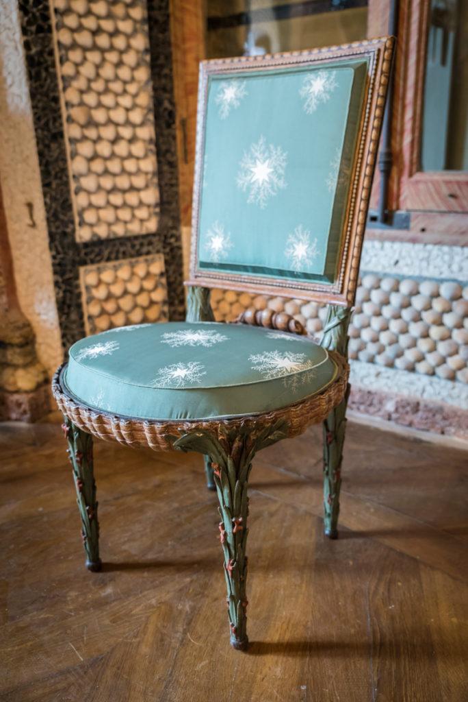 Chaise roseaux-Chaumière aux coquillages