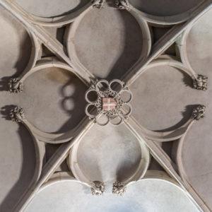 Pérouges-Détail plafond Eglise forteresse