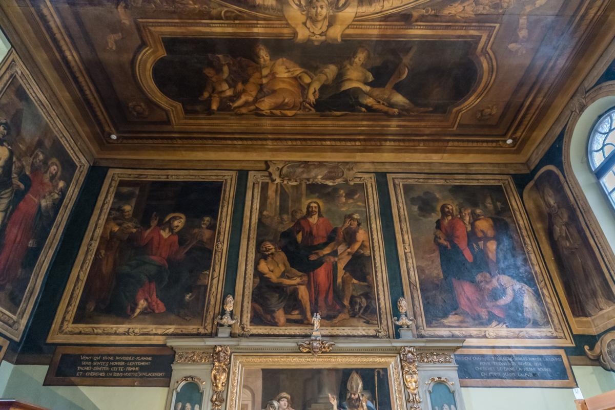 Hospices de Beaune-salle saint hugues-peintures