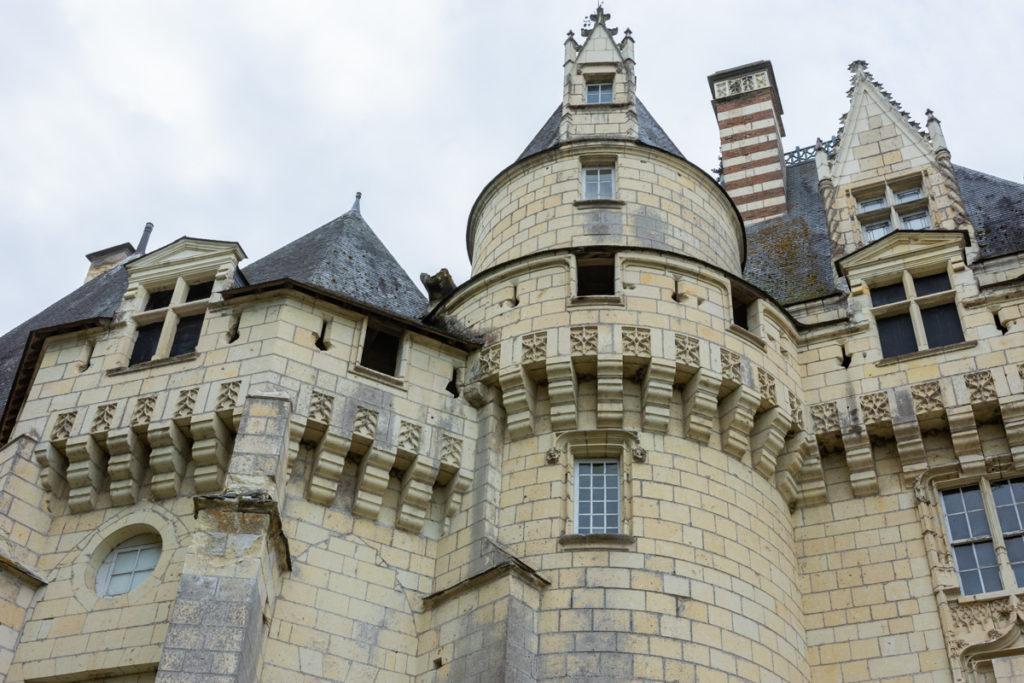 Chateau Ussé-chemin ronde-vue extérieure