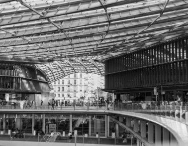 Les lignes de la canopée du forum des Halles