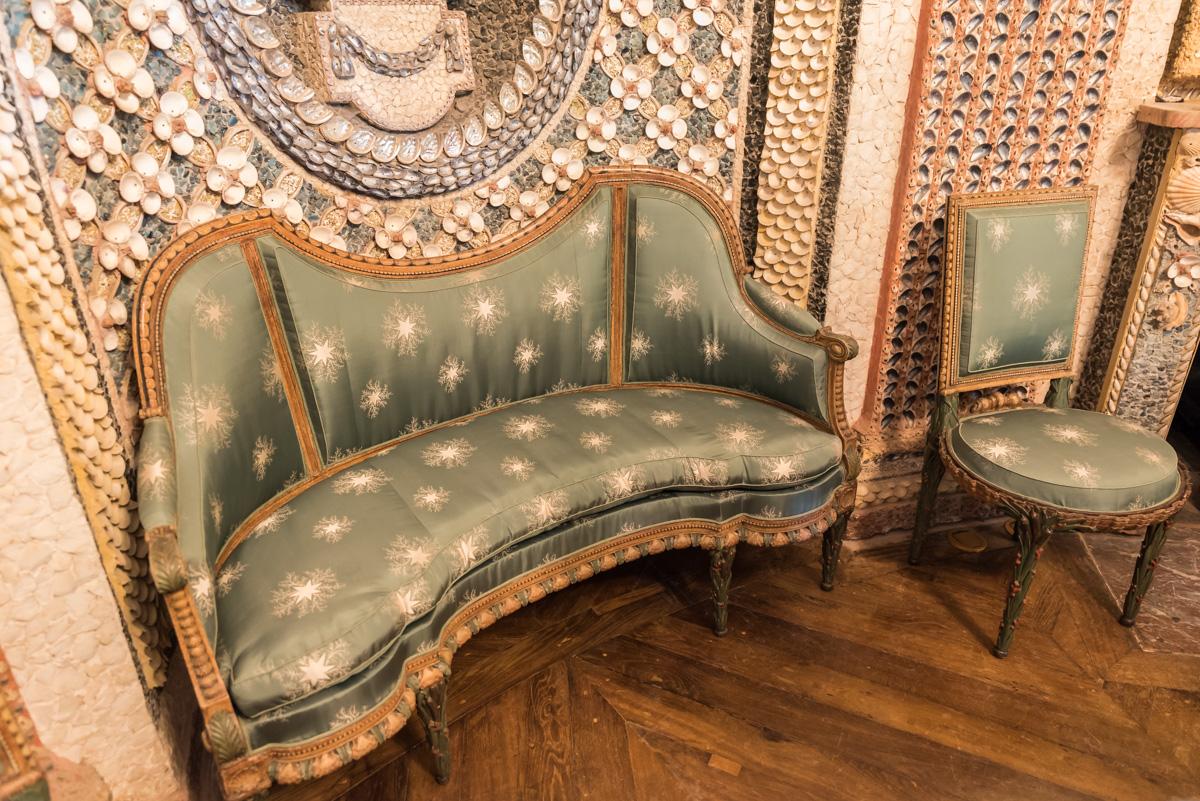 fauteuil chaumière aux coquillages
